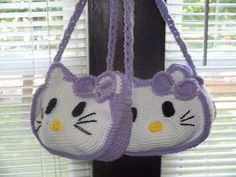 Crochet Cat Purse Hello Kitty 45 Ideas For 2019 Hello Kitty Crochet, Hello Kitty Purse, Cat Purse, Hello Kitty Items, Baby Boy Crochet Blanket, Baby Girl Crochet, Crochet For Boys, Crochet Baby Booties, Knitted Washcloths