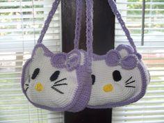 Crochet Cat Purse Hello Kitty 45 Ideas For 2019 Hello Kitty Crochet, Hello Kitty Purse, Cat Purse, Hello Kitty Items, Baby Boy Crochet Blanket, Baby Girl Crochet, Crochet For Boys, Knitted Washcloths, Knitted Bags