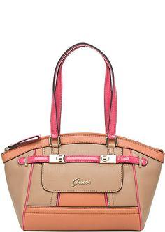 cheap guess handbags outlet gt78  Guess bag beige, orange, fuchsia