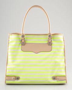 rebecca minkoff striped tote... perfect for summer