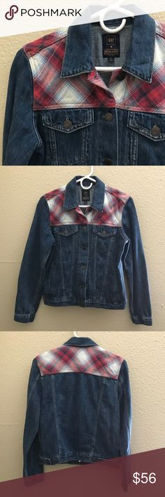 NWOT GAP X PENDLETON plaid denim Jean jacket Never worn NWOT denim jacket. This was a Gap and Pendleton collaboration. No lowball offers please :) Pendleton Jackets & Coats Jean Jackets