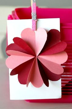 DIY Flower Heart Card Tutorial for Valentines Day, Easy craft!
