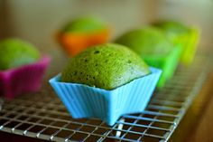 Matcha Mushipan (Green Tea Japanese Steamed Cup Bread) | angie and james do stuff.