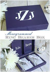 Monogrammed Ring Bearer Box