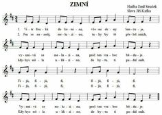 Zimní Kids Songs, Kids Education, Notes, School, Music, Early Education, Report Cards, Nursery Songs, Notebook