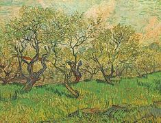 Orchard in Blossom  Oil on canvas  72.5 x 92.0 cm.  Arles: April, 1888