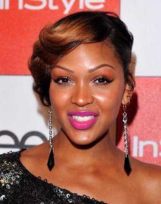 stylish side bangs black women
