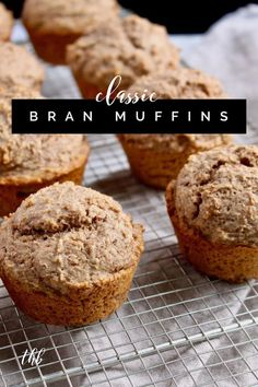 Easy Classic Bran Muffins Recipe with Greek yogurt Classic Bran Muffins, easy recipe with Greek yogurt, bran, whole wheat flour and the best part, no Cranberry Muffins, Muffins Blueberry, Simple Muffin Recipe, Healthy Muffin Recipes, Healthy Muffins, Loaf Recipes, Thm Recipes, Recipies, Morning Glory Muffins