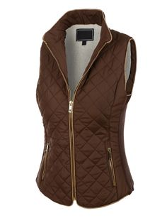 LE3NO Womens Lightweight Quilted Puffer Jacket Vest with Pockets   LE3NO