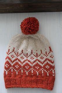 Jos joku haluaa tehdä tuommoisen pipon kun edellisessä postauksessa oli,ni tässä olisi ohjetta: Winter day Koko 54 sekä56/58 Ta... Knit Crochet, Crochet Hats, Fair Isle Knitting, Yarn Projects, Crochet Accessories, Baby Booties, Knitted Hats, Knitting Patterns, Winter