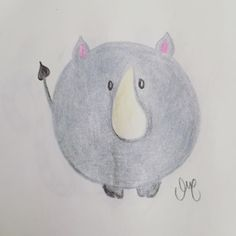 Jalou darlings ☺️ In the middle #rino #rechoncho, qué poquitos quedan 😢  #jalou_darling #animales_rechonchos #chubby_animals #pretty #cute #pencil #sketch #draw_a_day #esther #esther_maroto