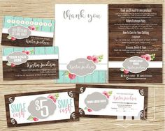 DotDotSmile Marketing Small Business Kit Bundle, Dot Dot Smile Business Card Punch / Stamp Card, Loyalty Card, DotDot Smile Consultant Package, Smile Cash 5 / 10 / 15, DDS Marketing Rustic Wood Shabby Chic Vintage on Etsy