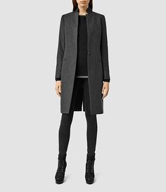 Womens Anise Coat (Charcoal Grey) - product_image_alt_text_1