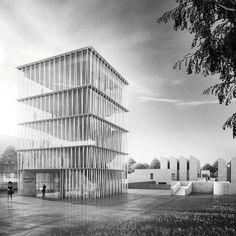"""Staab Architekten chosen to extend Berlin's Bauhaus-Archiv with """"almost frail"""" design"""