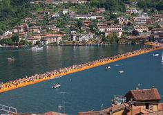 When the project was announced, forecasts were made that between 650.00 and 750.000 visitors would visit Lake Iseo in northern Italy to visit the floating piers. However, a lot more visitors came and there are still coming.  By the end of June, 1.2 million people had visited the Floating Piers, according local mayor Valerio Valenti.