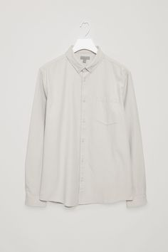 COS image 13 of Button collar shirt in Light Grey