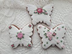 Dessert Decoration, Wedding Cookies, Cookie Decorating, Gingerbread Cookies, Biscuits, Desserts, Easter Decor, Decorated Cookies, Food