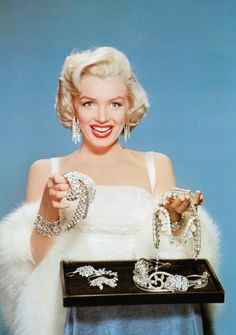 Marilyn in a promotional photograph for 'How To Marry A Millionaire', released 1953