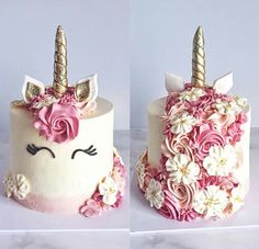 Best Birthday Party Decoracion For Adults Men Dessert Tables Ideas Beautiful Cakes, Amazing Cakes, Unicorn Birthday Parties, Cake Birthday, Unicorn Party, Birthday Ideas, Flower Birthday Cakes, 5th Birthday, Girl Cakes