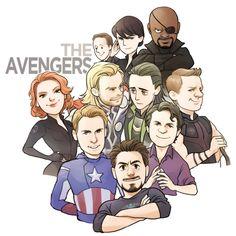 Increíbles ilustraciones de Los Vengadores