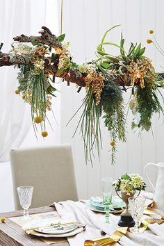 Stylists Adam Powell and Jono Fleming teamed up to create a gorgeous Christmas table - we pull out 5 style ideas to use at home including Jono's recipe for Aussie Christmas, Green Christmas, Simple Christmas, Christmas Home, Christmas Lights, Christmas Crafts, Australian Christmas Tree, Christmas Decorations Australian, Christmas Flowers