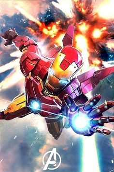 """Avengers was a kickass movie. And been reading this Ironman comic, """"Extremis"""" and got a sudden urge to paint him. Marvel Comics, Marvel E Dc, Marvel Heroes, Marvel Avengers, Comic Book Characters, Marvel Characters, Comic Books Art, Comic Art, New Iron Man"""