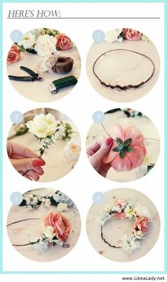 Crown yourself queen of spring weddings with this DIY flower crown
