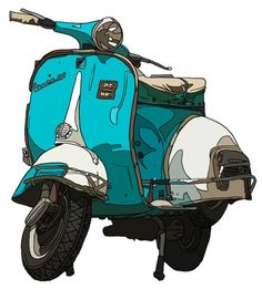 Vespa drawing....A visual blog on Vespa's world. For Piaggio's fan & vintage addicted people.