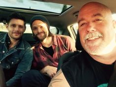 [9 May 9 2015] J2 and Clif #Asylum via Clif's twitter || Jensen Ackles || Jared Padalecki || Clif Kosterman
