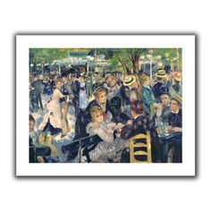 """Found it at Wayfair - Art Wall 'Ball at the Moulin de la galette' by Pierre RenoirCanvas Poster - Size: 22"""" H x 28"""" Whttp://www.wayfair.com/Art-Wall-Ball-at-the-Moulin-de-la-galette-by-Pierre-RenoirCanvas-Poster-ARWL3725.html?refid=SBP"""