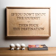 ENJOY THE JOURNEY - wooden inspirational poster | Mr.Wood