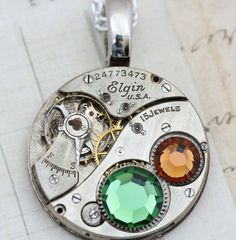 Steampunk Necklace  Steam Punk Jewelry  by inspiredbyelizabeth - Click image to find more women's fashion Pinterest pins