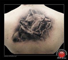 Cat Tattoo , Artist@Dominik Szymkowiak, Art Line Tattoo Poznan