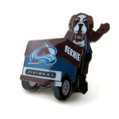 Colorado Avalanche Mascot on Zamboni Lapel Pin