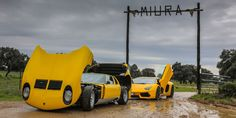 Lamborghini Miura on A Trip To the Bull Breeding Farm In Spain Lamborghini Miura, Car In The World, Andalusia, Spain Travel, Supercar, Car Ins, Old Cars, Cars And Motorcycles, Vintage Cars