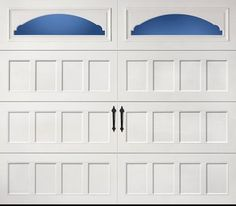cascade garage doorAmarr Short Panel garage door in True White with Cascade Windows