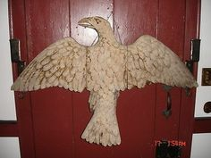 Hand Carved American Colonial Period Spread Winged Eagle Tavern Sign