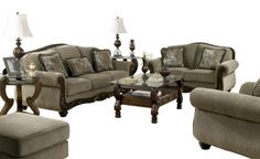 Martinsburg Traditional Meadow Fabric Living Room Set