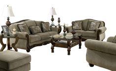 Martinsburg Traditional Meadow Fabric Living Room Set