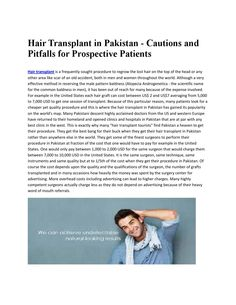 Hair Transplant in Pakistan, Lahore & Karachi through our latest technology FUE. We provides Hair loss treatment, fue, surgical treatment, Skin Care