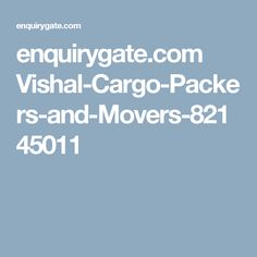 enquirygate.com Vishal-Cargo-Packers-and-Movers-82145011