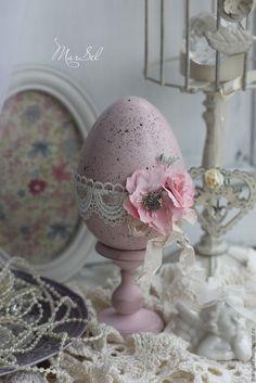 """Купить Пасхальное яйцо """"Пасха в нежно-розовом"""" - бледно-розовый, Пасха, пасхальный сувенир"""