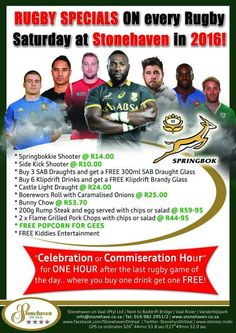 We're proud BOK supporters! Join us each 2016 Saturday for live rugby games on BIG screens. Rugby Games, Brandy Glass, Glass Castle, Game Of The Day, Grilled Pork Chops, Light Recipes, Buy 1, Screens, Fun Things