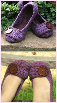 DIY Crochet Adult Slippers Pattern Round Up- Crochet Women House Slippers Pattern Crochet Boots, Crochet Clothes, Crochet Scarf Easy, Diy Crochet, Crochet Slipper Pattern, Shoe Pattern, Knitted Slippers, Crochet Woman, Womens Slippers