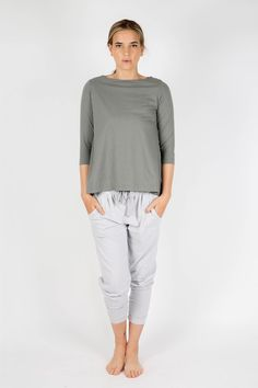 women's organic cotton loungewear, soli top