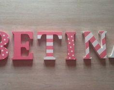 Letras decorativas em MDF