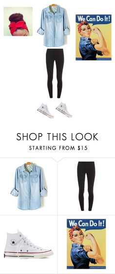 """Halloween costume idea: Rosie the Riveter"" by niall-luvs-me-134 ❤ liked on Polyvore featuring Splendid and Converse"