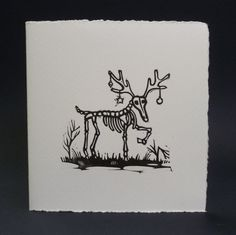 Anti Christmas cards  pack of 5 by linocutboy on Etsy, £8.00
