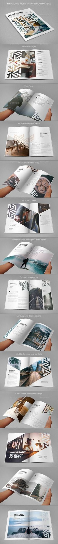 Modern Cool Pattern Magazine — InDesign INDD #simple #pattern • Available here → https://graphicriver.net/item/modern-cool-pattern-magazine/17263863?ref=pxcr