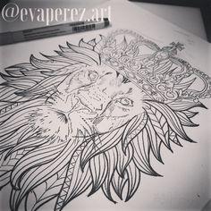 #tattoodesign #tattooidea #lion #crown #geometriclion #geometric #funky #evaperez #wildsidetattoo #ct #ctink #ctartist #femaletattooer #femaletattooartist